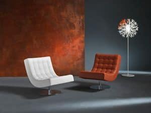 Sissi, Liegestuhl für modernes Haus, in Polyurethan, Dreh