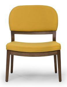 Tosca lounge, Niedriger Stuhl mit großem Sitz
