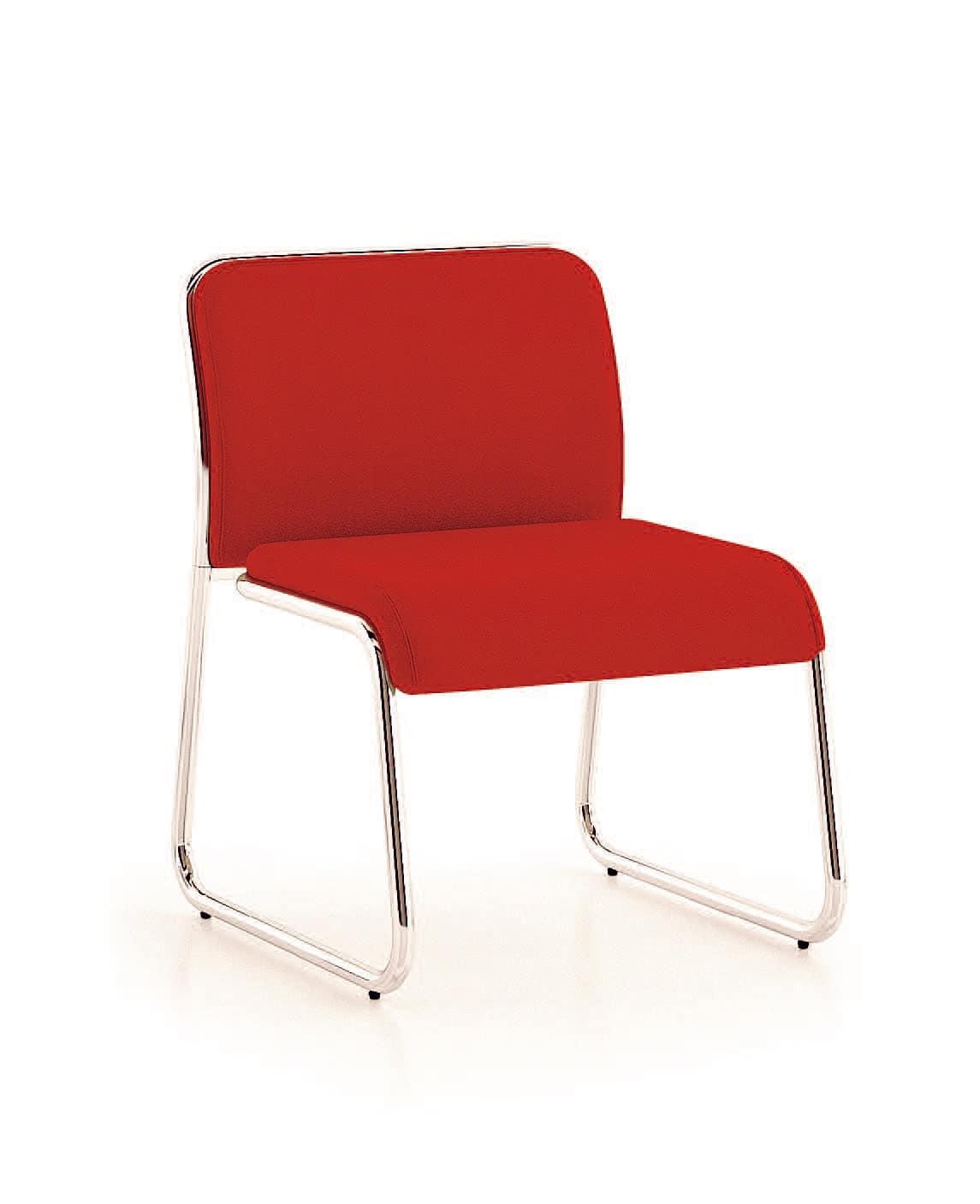 UF 183, Stuhl mit breiten Sitz und Kufen, Vintage-Stil