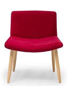 Web lounge, Gepolsterter Stuhl mit breiter Sitzfläche