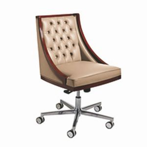 Boss Drehstuhl, Drehstuhl mit klassischem Stil, auf Rädern