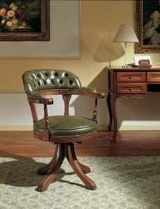 Study, Drehstuhl mit Tufting-Rückenlehne