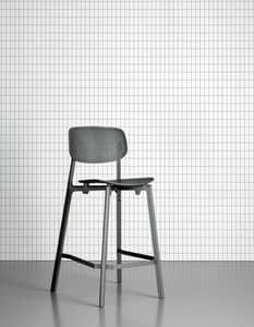 Colander Stool, Stapelbarer Hocker aus lackiertem Aluminium und Polypropylen