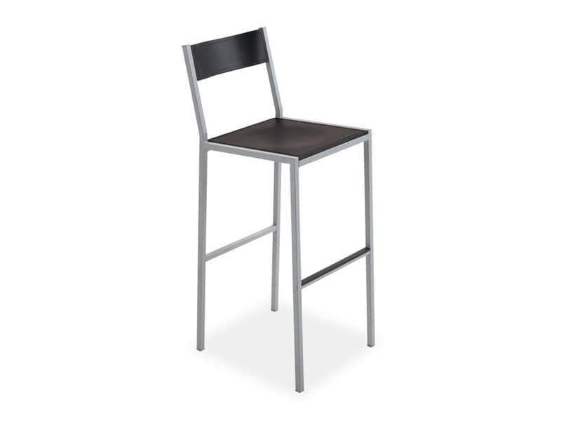 Do stool, Moderne Barhocker, in quadratischen Stahl, für den Objektbereich