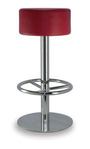 Cilindro 6063, Hocker mit runder gepolsterter Sitzfläche