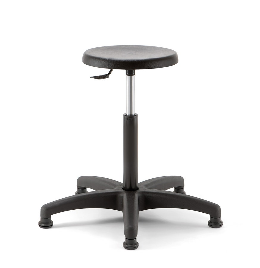 Mea 02, Hocker mit runder Sitzfläche