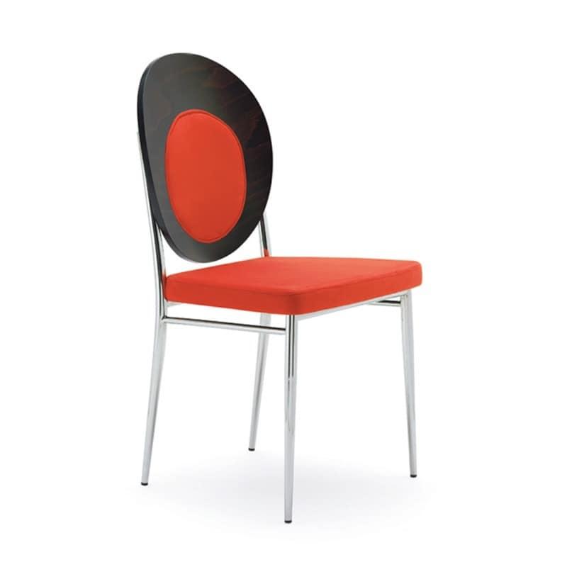 bequemen sessel aus verchromtem stahl f r wartezimmer idfdesign. Black Bedroom Furniture Sets. Home Design Ideas