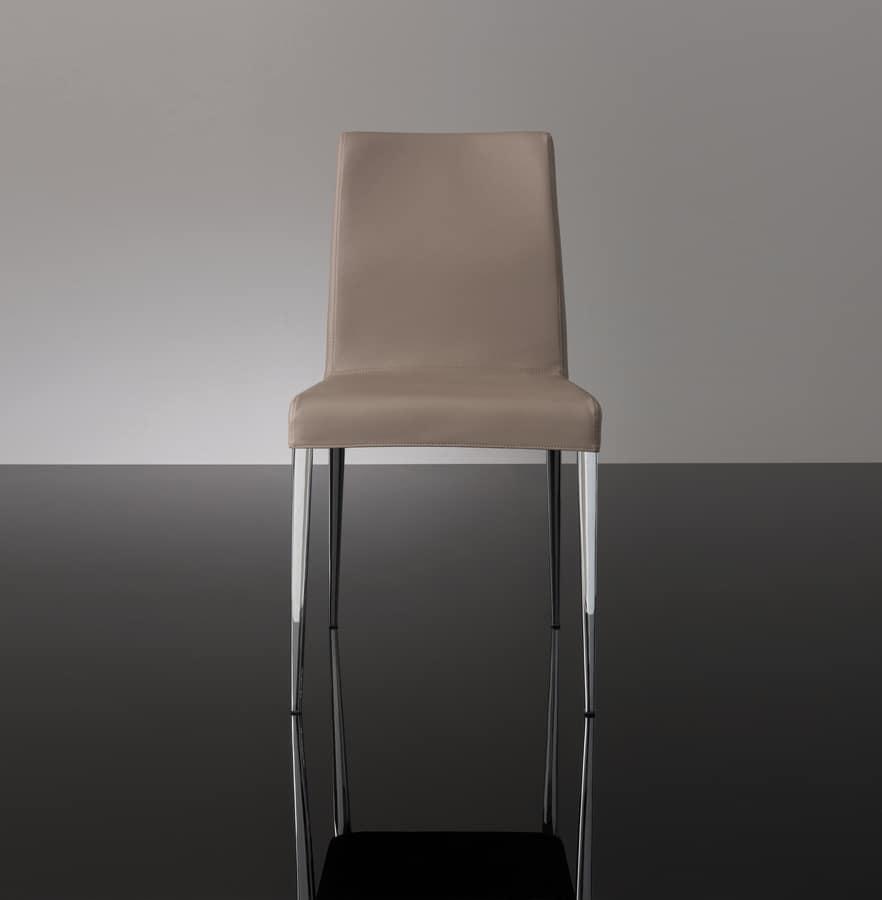ART. 247/1 HOLLYWOOD CHAIR, Metallstuhl mit Kunstleder bezogen