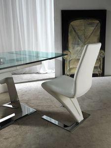 Art. 294 Zeus, Stuhl mit einer alternativen Konstruktion, in Kunstleder überzogen