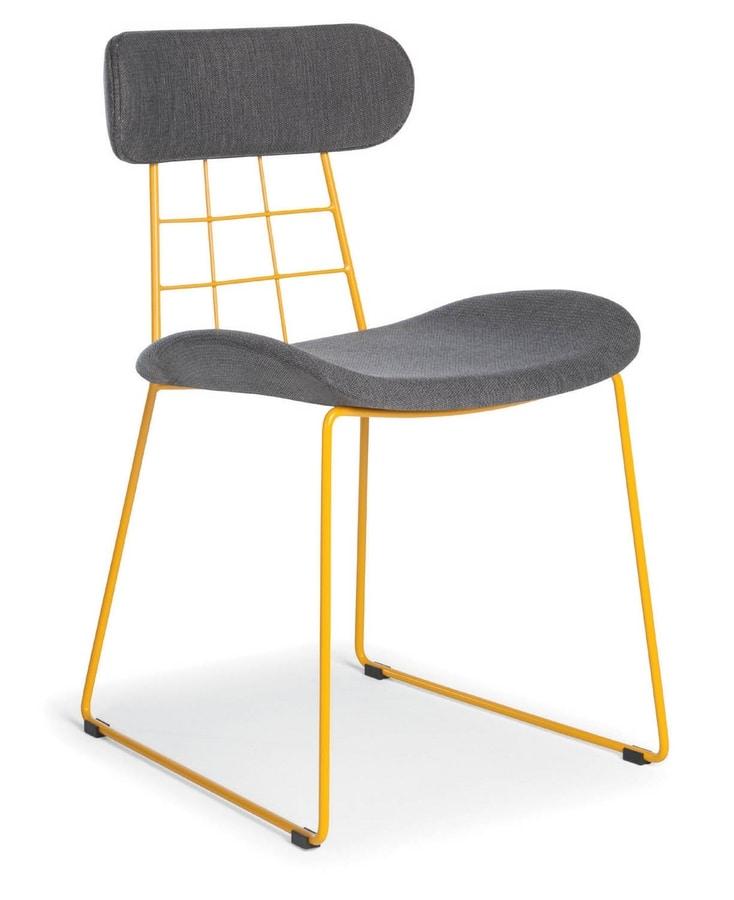 stuhl mit stoffbezug ideal f r bars und moderne k chen. Black Bedroom Furniture Sets. Home Design Ideas