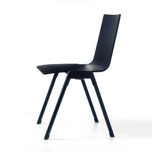 Chromis wood, Moderner Stuhl, stapelbar, für Wohngebiete und Bars