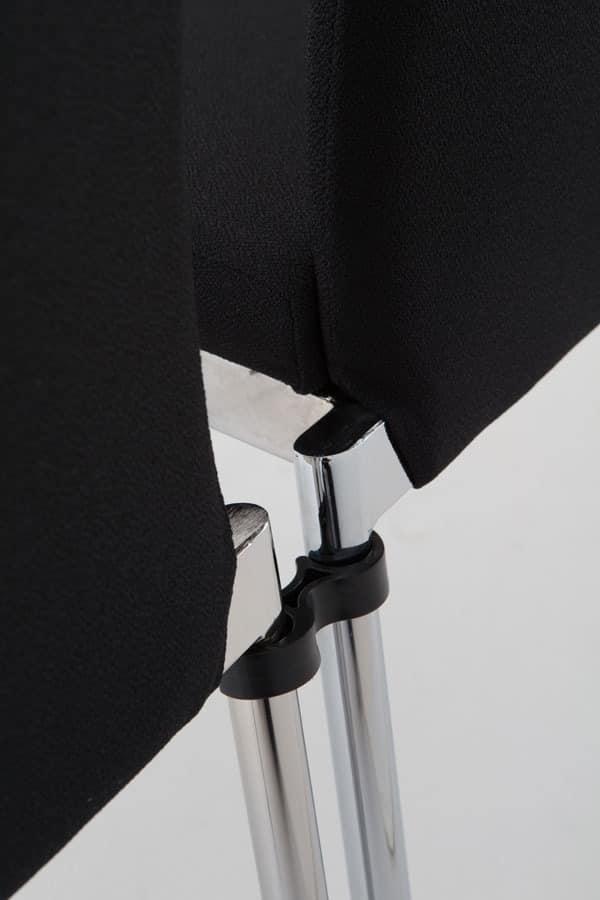 Evosa 08/1, Moderne Metallstuhl für Küche, Stuhl mit Sitzpolster für Bar