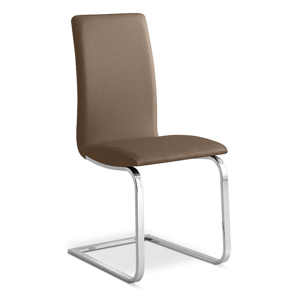 Stuhl Mit Chrom Kufen Moderne B Ro Idfdesign