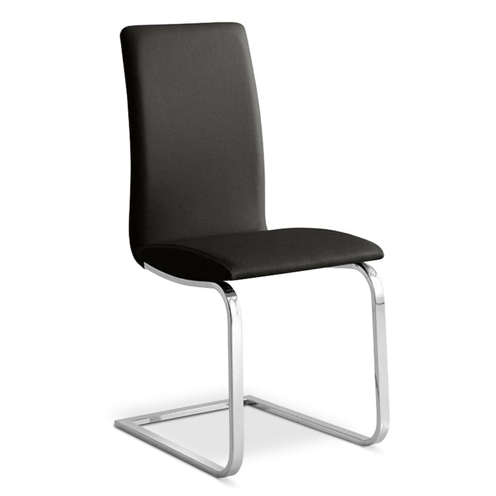 Stuhl mit chrom kufen moderne b ro idfdesign for Design stuhl mit kufen