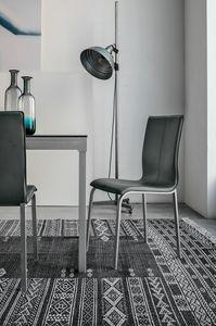 GLAMOUR SE135, Stuhl mit Lederoberteilideal für Speisesaal und Bar
