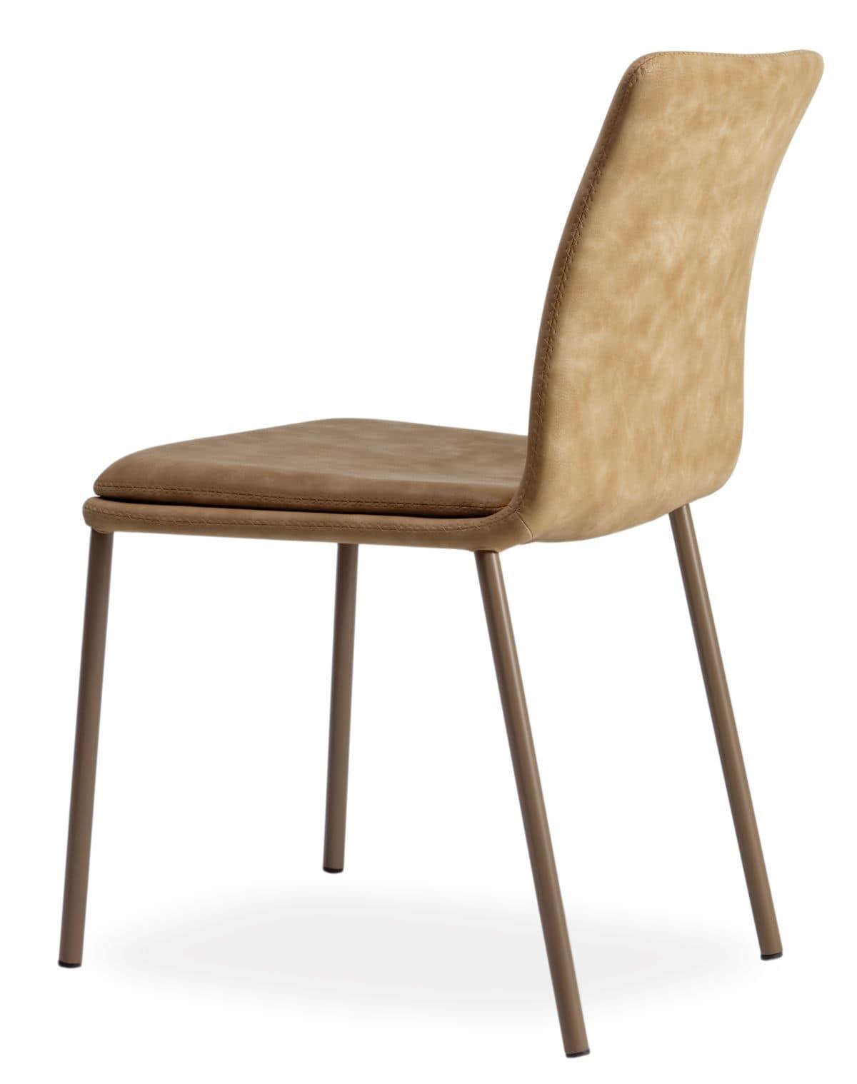 moderner stuhl mit gepolstertem sitz ideal f r bars und. Black Bedroom Furniture Sets. Home Design Ideas