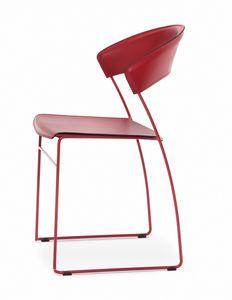 Juliette, Sehr leichter Metallstuhl, auch für den Außenbereich geeignet