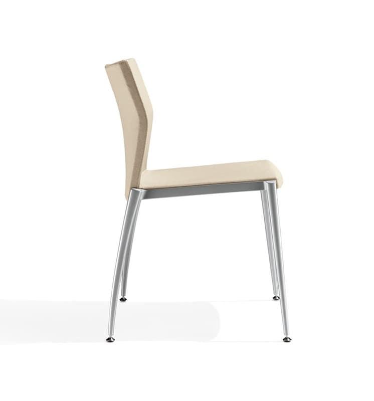 Kalla, Linear Stuhl mit Struktur aus Aluminium