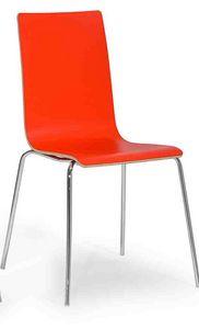 Lilly, Moderner Stuhl mit Metallbeinen
