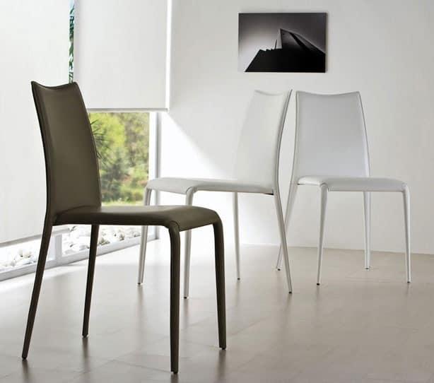 Stuhl aus metall vollst ndig abgedeckt f r wohnzimmer for Stuhl metallbeine