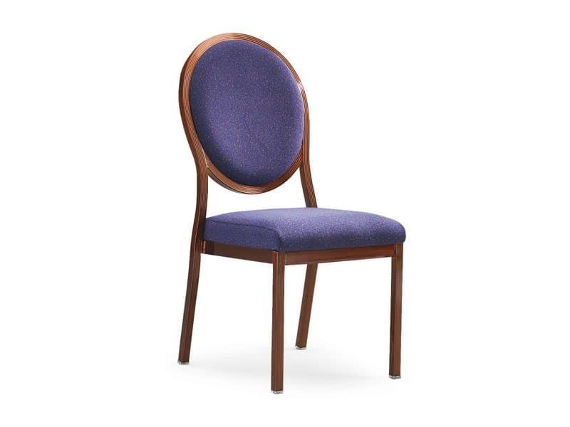 Salon 95/10, Gepolsterter Stuhl aus Holz mit Verbindungssystem