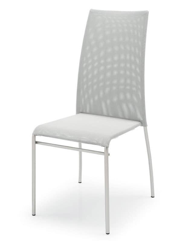 SE 362 / ALTO, Stühle aus lackiertem Metall, Sitz und Rückenlehne aus Kunststoff, verschiedene Farben