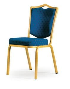 Siena-Allday 62/4E, Stuhl mit feuerhemmenden Polsterung, leicht und stapelbar