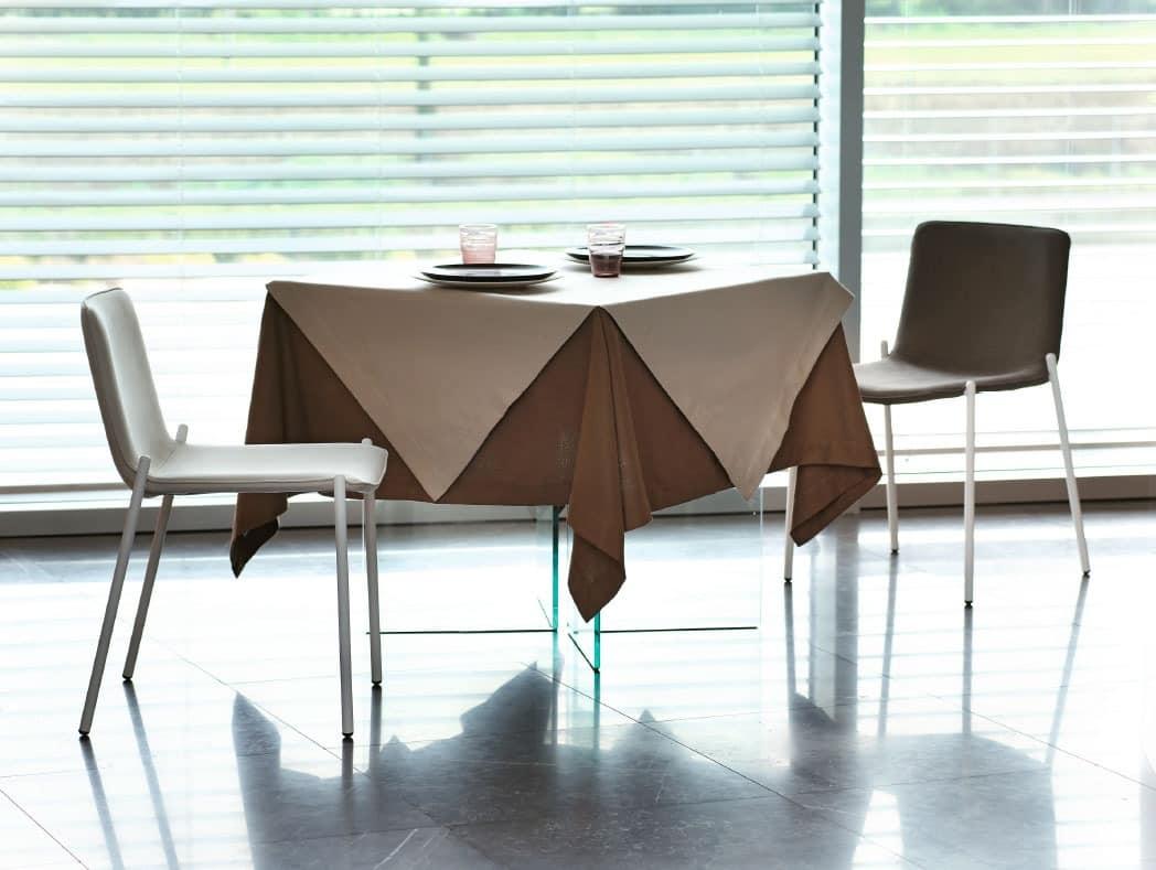 moderner stuhl aus verchromtem metall f r wohnzimmer idfdesign. Black Bedroom Furniture Sets. Home Design Ideas