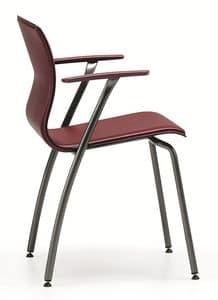 WEBTOP 388, Stuhl aus Metall und Leder, geeignet für Bars und Büros