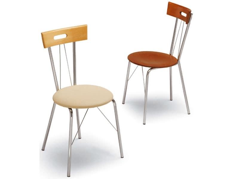 299, Metallstuhl, Rückenlehne mit Griff, für Snacks Bar