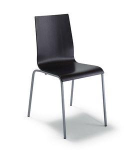 CG 77614, Metallstuhl, mit mehrschichtiger Schale