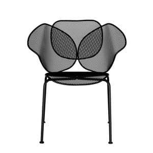 Elitre chair, Außenmetallstuhl, stapelbar, für Bars und Eisdiele geeignet
