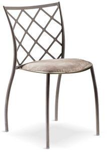Julie Rombi mit gepolstertem Sitz, Stuhl mit gepolstertem Sitz und Rückenlehne