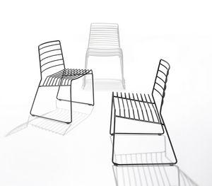 Park, Stuhl in Stahlstange, stapelbar, auch für den Außenbereich