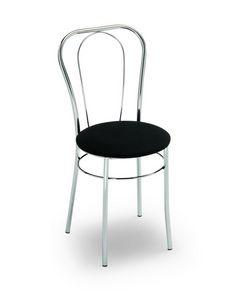 Sara, Stuhl für Bars und Eisdielen mit rundem Sitz