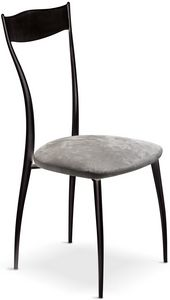 Vilma New Stuhl, Metallstuhl mit gepolstertem Sitz