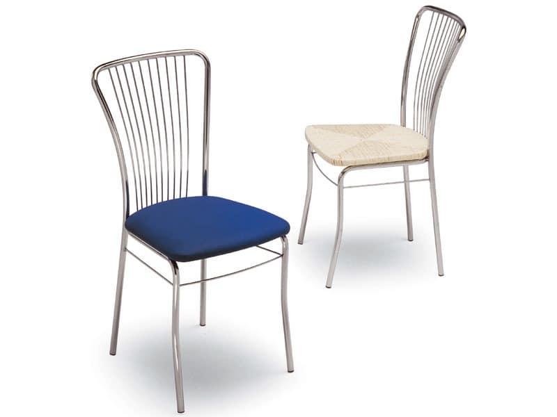 73, Lackiertem Metall Stuhl, Sitz gepolstert, für Zuhause