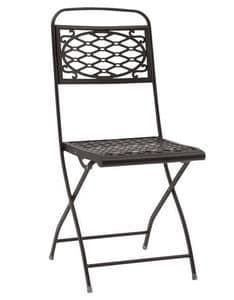 Isa, Klappstuhl aus Stahl, in verschiedene Farben, für den Außenbereich