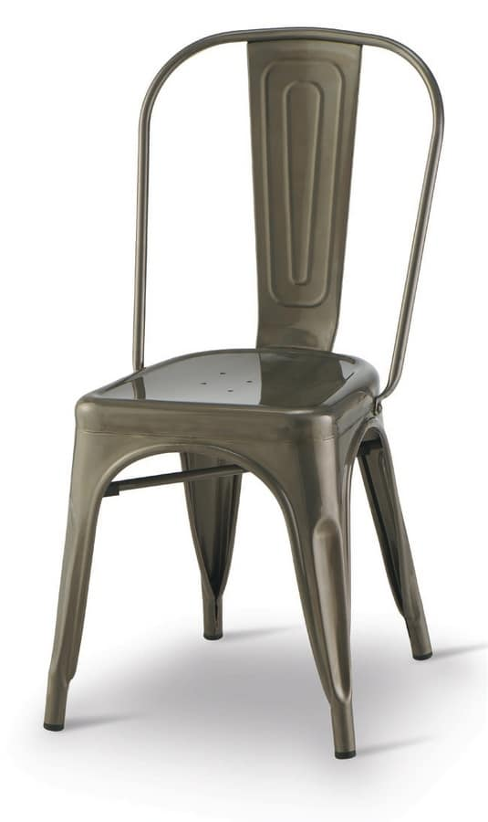 SE 500 / INT, Lackiertem Metall Stuhl, stapelbar, für Restaurants