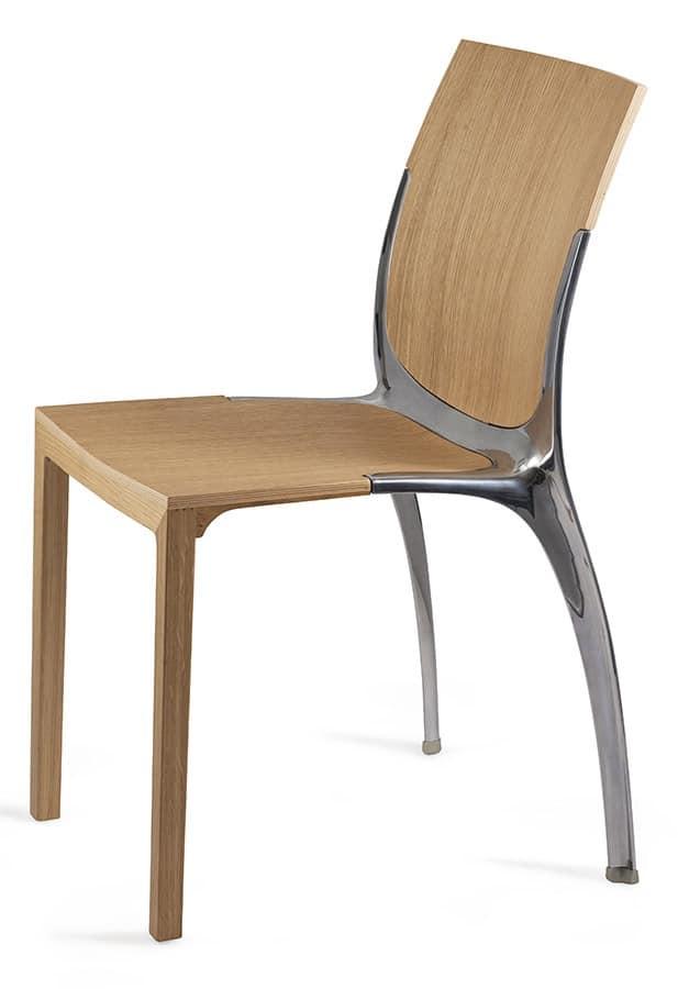 stapelstuhl aus holz und metall idfdesign. Black Bedroom Furniture Sets. Home Design Ideas