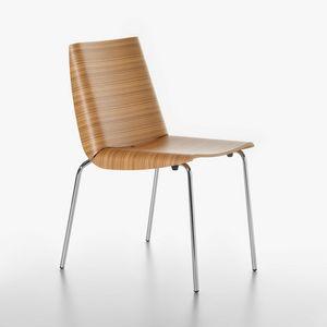Millefoglie Stuhl 1620-20, Metallstuhl mit Sperrholzschale, für Küche