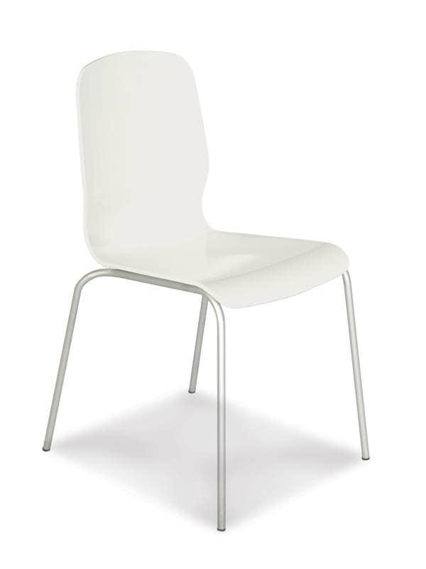 stuhl mit geh use aus polycarbonat beine aus verchromtem. Black Bedroom Furniture Sets. Home Design Ideas