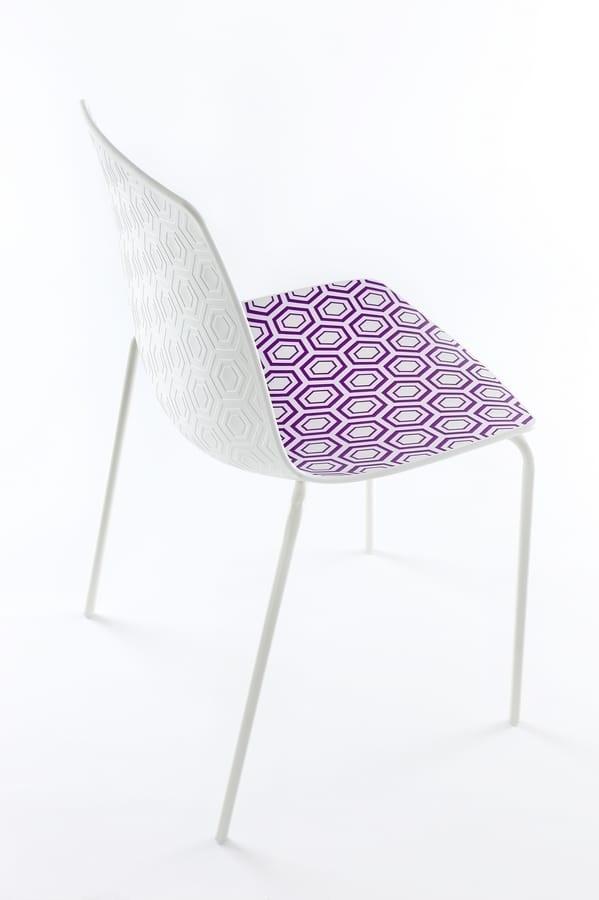 Alhambra, Stuhl mit Metallstruktur, Polymerbasis
