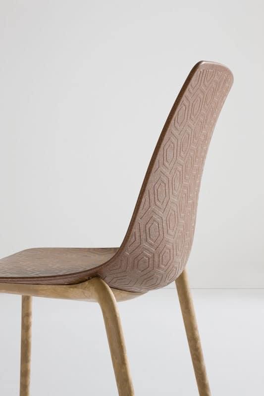 stühle mit schale aus kunststoff, verbundholzrahmen | idfdesign