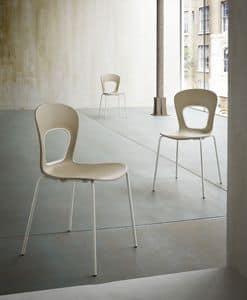 Blog, Stuhl mit Sitz Kunststoff, für modische Pastry