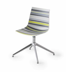 Colorfive L, Stuhl mit Kunststoffschale mehrfarbig