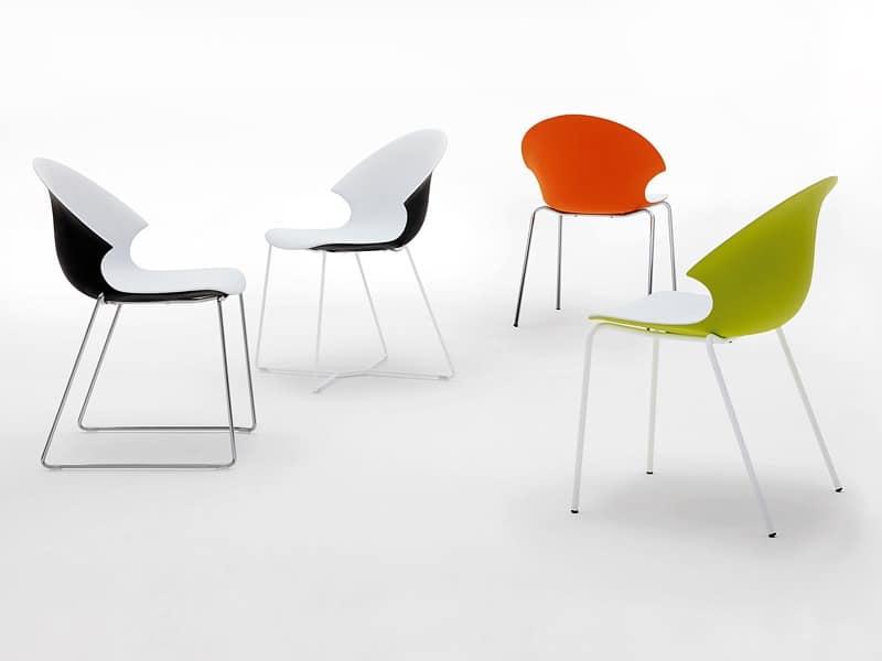 stapelbaren kunststoffstuhl f r den objektbereich idfdesign. Black Bedroom Furniture Sets. Home Design Ideas