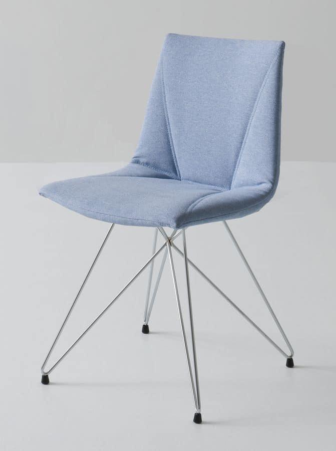 Colorfive TC, Stuhl mit Metallgestell, mehrfarbige Polymerhülle