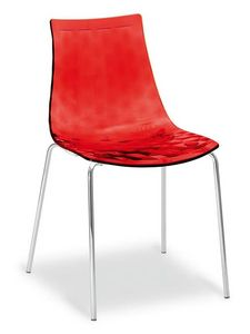 Happy, Moderner Stuhl mit Metallbeinen und Schale im SAN