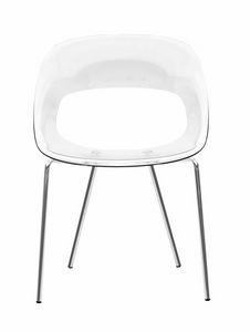 Nadia RG, Stuhl aus Polykarbonat mit bequemem Sitz
